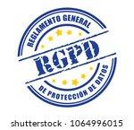 general data protection... | Shutterstock .eps vector #1064996015