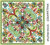 vector ornament paisley bandana ... | Shutterstock .eps vector #1064997944