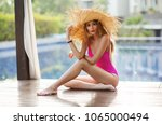 summer lifestyle fashion... | Shutterstock . vector #1065000494
