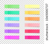 post note sticky stickers ... | Shutterstock .eps vector #1065000737