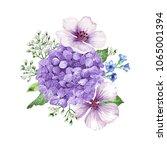bouquet of flowers  apple tree... | Shutterstock .eps vector #1065001394