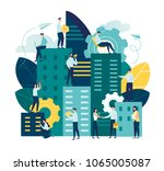 vector flat illustration ... | Shutterstock .eps vector #1065005087