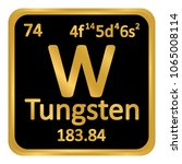 periodic table element tungsten ... | Shutterstock .eps vector #1065008114