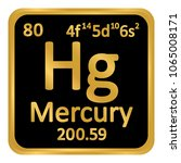periodic table element mercury... | Shutterstock .eps vector #1065008171