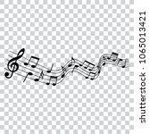 musical design element  music... | Shutterstock .eps vector #1065013421