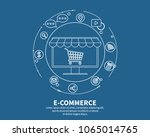 e commerse online store.... | Shutterstock .eps vector #1065014765