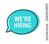we're hiring. speech bubble on... | Shutterstock .eps vector #1065014855