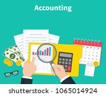 accounting. businessman... | Shutterstock .eps vector #1065014924