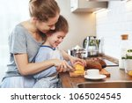 preparation of a family... | Shutterstock . vector #1065024545
