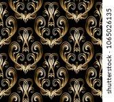 baroque damask gold 3d seamless ... | Shutterstock .eps vector #1065026135