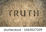 conceptual image of the word... | Shutterstock . vector #1065027209