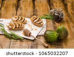swedish toasts with figs ... | Shutterstock . vector #1065032207