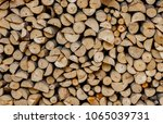 material for heating the house. ... | Shutterstock . vector #1065039731