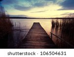 Empty Wooden Jetty In The...