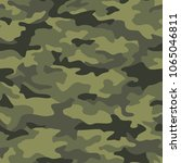 texture military camouflage... | Shutterstock .eps vector #1065046811