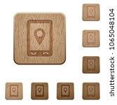 mobile navigation on rounded... | Shutterstock .eps vector #1065048104