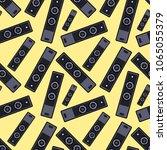 speaker seamless pattern on... | Shutterstock .eps vector #1065055379
