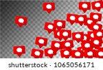 social media marketing. message ... | Shutterstock .eps vector #1065056171