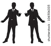 vector business man silhouette | Shutterstock .eps vector #106506335