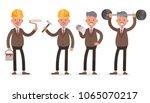 businessman character vector... | Shutterstock .eps vector #1065070217