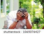 image of elderly stresness man... | Shutterstock . vector #1065076427