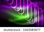 glowing ellipses dark...   Shutterstock .eps vector #1065085877