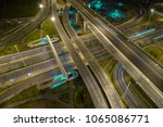 rush hour traffic on a city...   Shutterstock . vector #1065086771