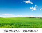 Picturesque Green Field And...