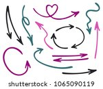 hand drawn diagram arrow icons... | Shutterstock .eps vector #1065090119