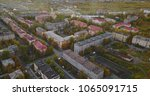 aerial townscape and suburbs of ... | Shutterstock . vector #1065091715