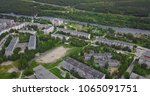 aerial townscape and suburbs of ... | Shutterstock . vector #1065091751