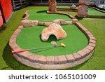 mini golf court at cruise ship... | Shutterstock . vector #1065101009