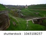 historical temple on a hill.... | Shutterstock . vector #1065108257