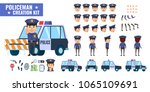 police officer creation kit.... | Shutterstock .eps vector #1065109691