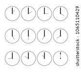 minimalist watches distributed... | Shutterstock .eps vector #1065110429