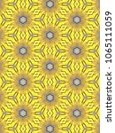 Small photo of Closeup shot of yellow shoelace kaleidoscope pattern background