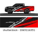 truck graphic. abstract tech... | Shutterstock .eps vector #1065116351