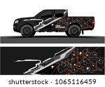 truck graphic. abstract tech...   Shutterstock .eps vector #1065116459
