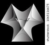 festive geometric set stars and ... | Shutterstock .eps vector #1065116675