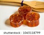 crispy jelly with bael fruit ... | Shutterstock . vector #1065118799