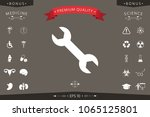 wrench icon symbol | Shutterstock .eps vector #1065125801