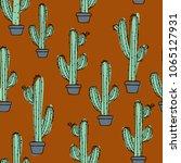 cactus in a pot    Shutterstock .eps vector #1065127931