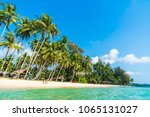 beautiful tropical beach and... | Shutterstock . vector #1065131027