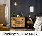 interior elegant wood wardrobe... | Shutterstock . vector #1065132857