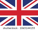 flag of united kingdom. flag... | Shutterstock .eps vector #1065144155