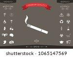 cigarette symbol icon | Shutterstock .eps vector #1065147569