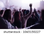 blurred background with crowd...   Shutterstock . vector #1065150227