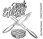 food meat  steak steak house... | Shutterstock .eps vector #1065154349