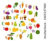 vector set alphabet with... | Shutterstock .eps vector #1065157484