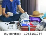travel and vacation concept ... | Shutterstock . vector #1065161759